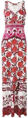Roberto Cavalli rose print maxi dress