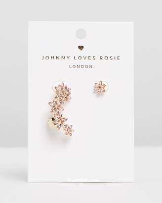 Johnny Loves Rosie Statement Flower Ear Cuff Set