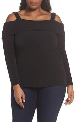 MICHAEL Michael Kors Buckle Strap Off the Shoulder Top