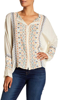 Johnny Was Cenote Embroidered Blouse