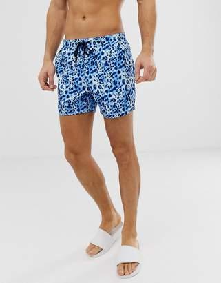 d8a897cc2d3a3 South Beach Recycled swim shorts in watercolour leopard print
