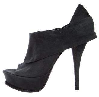 Elizabeth and James Platform Peep-Toe Booties