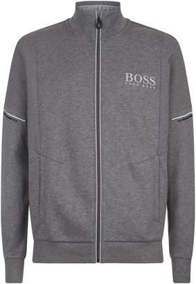 BOSS GREEN Zip-Up Funnel Neck Sweatshirt