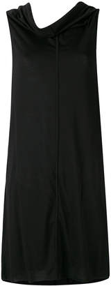 Rick Owens Lilies draped neck flared dress