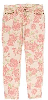 Current/Elliott Low-Rise Printed Jeans w/ Tags