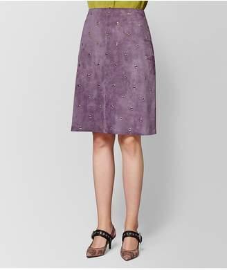 Bottega Veneta Lilac Suede Skirt