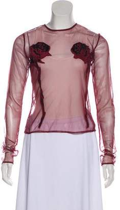 Opening Ceremony Sheer Long Sleeve Top
