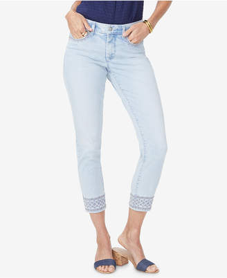 NYDJ Ami Embroidered Ankle Skinny Jeans