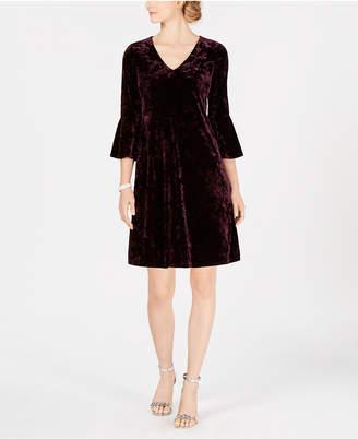Jessica Howard Petite Velvet A-Line Dress