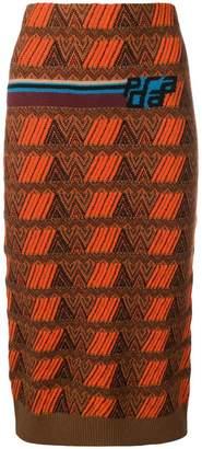 jacquard logo skirt
