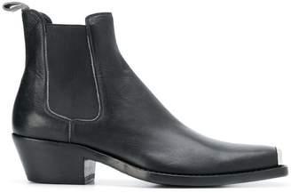Calvin Klein logo plaque cowboy boots
