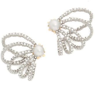 Alexis Bittar Crystal Lace Orbiting Imitation Pearl Earrings $175 thestylecure.com