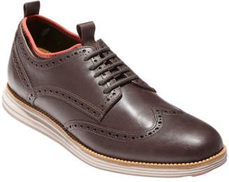 Cole Haan OriginalGrand Neoprene-Lined Wing-Tip Oxford, Chestnut/Dark Roast