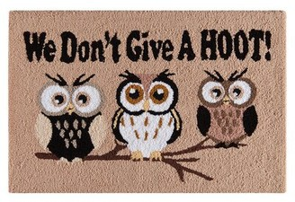 August Grove Blanmont We Don't Give A Hoot! Halloween Brown Area Rug August Grove