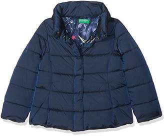 Benetton Girl's Jacket, (Dark Blue 35e), (Size: Large)