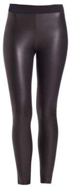 Wolford Lindsey Leather-Look Leggings
