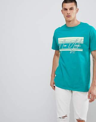 New Look T-Shirt With New York Print In Green