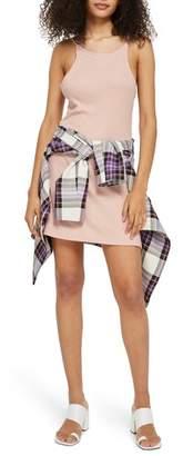 Topshop Rib Scoop Back Dress