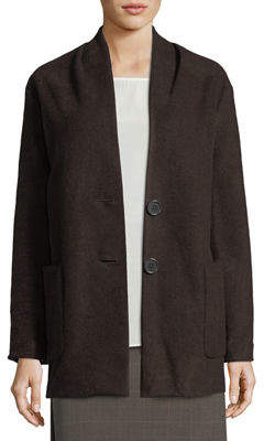 Max Studio Wool-Blend Two-Button Cardigan