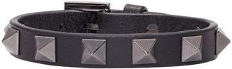 Valentino Black Leather Rockstud Bracelet $225 thestylecure.com