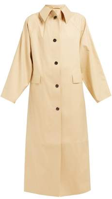 BEIGE Kassl Editions - Point Collar Cotton Blend Trench Coat - Womens