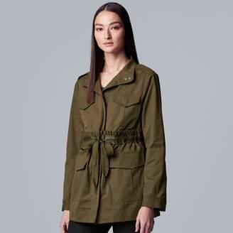 Vera Wang Women's Simply Vera Drawstring Utility Jacket