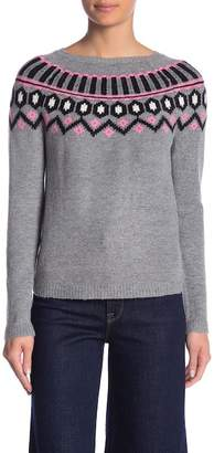 Absolutely Cotton Curved Yoke Fairaisle Sweater