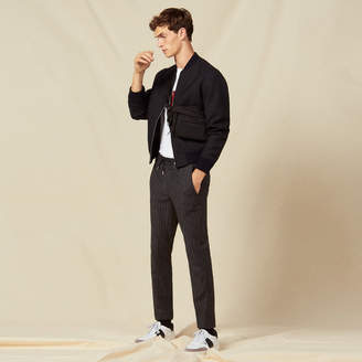Sandro Straight-cut flannel trousers
