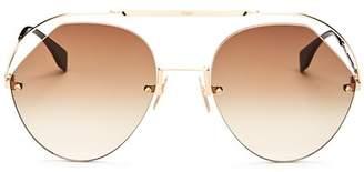 Fendi Women's Brow Bar Round Sunglasses, 57mm