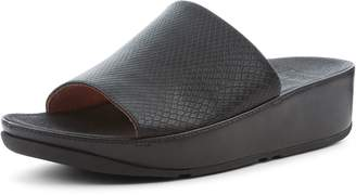 FitFlop Ginny Ginny Snake Embossed Pool Slides