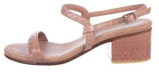 Rachel Comey Embossed Ankle Strap Sandals