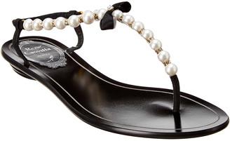Rene Caovilla Eliza Pearl Leather Sandal