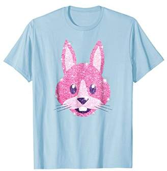 Happy Easter Bunny Face T-Shirt For Girls And Women