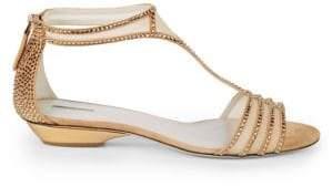 Giorgio Armani Studded Flat Sandals
