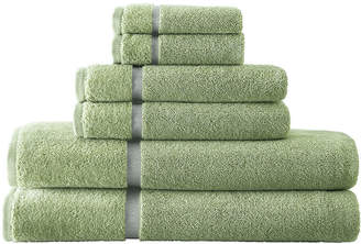PACIFIC COAST TEXTILES Pacific Coast TextilesTM Velour Border 6-pc. Bath Towel Set
