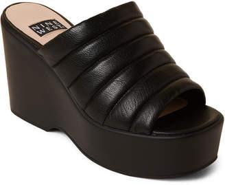7ab3af48012 Nine West Black Millie Platform Slide Sandals