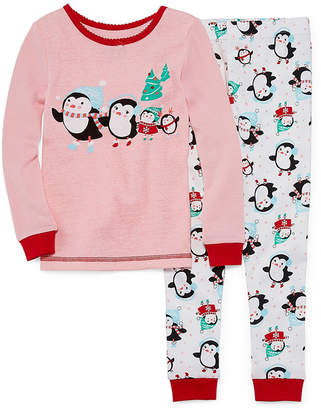 Asstd National Brand Holiday Penguin 2pc Pajama Set - Toddler Girls