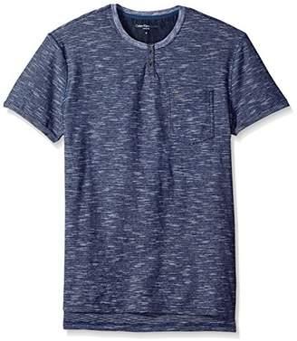 Calvin Klein Jeans Men's Short Sleeve Slub Slit Neck T-Shirt