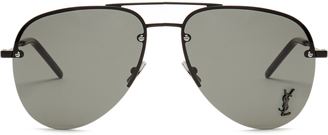 SAINT LAURENT Classic aviator metal sunglasses $275 thestylecure.com