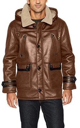 Excelled Men's Faux Shearling Hooded Jacket