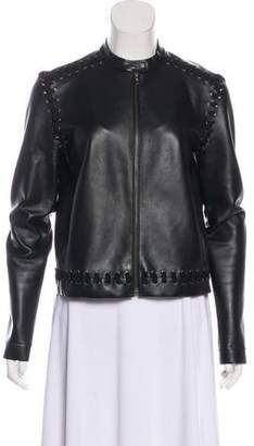Lanvin Leather Zip-Up Jacket