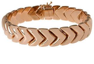 """Bronzo Italia Polished 8"""" Arrow Design Bracelet"""
