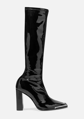 Alexander Wang Mascha Stretch-vinyl Knee Boots - Black