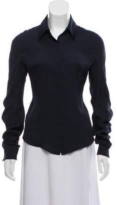 Calvin Klein Collection Silk Button-Up Top