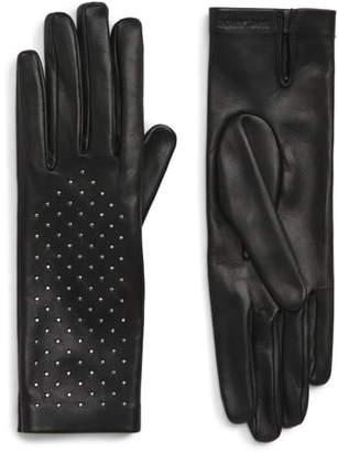 Saint Laurent Studded Leather Gloves
