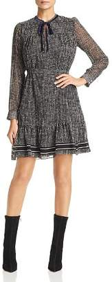 Marella Battito A-Line Houndstooth Dress