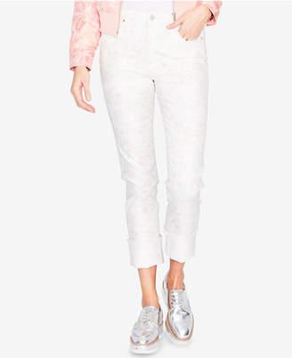 Rachel Roy Floral-Print Skinny Jeans