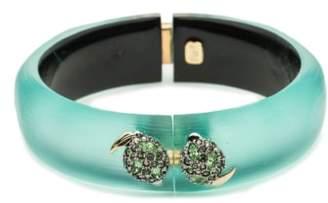 Alexis Bittar Medium Lime Hinge Bracelet