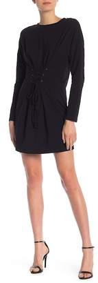 MinkPink Long Sleeve Corset Waist Dress