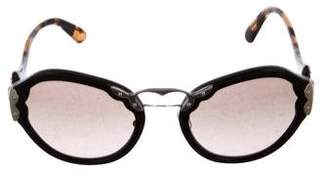 Prada Gradient Embellished Sunglasses w/ Tags